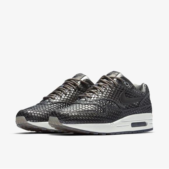 81bc7bab6681 Premium Nike Air Max 1 Charcoal Fish Scales👑